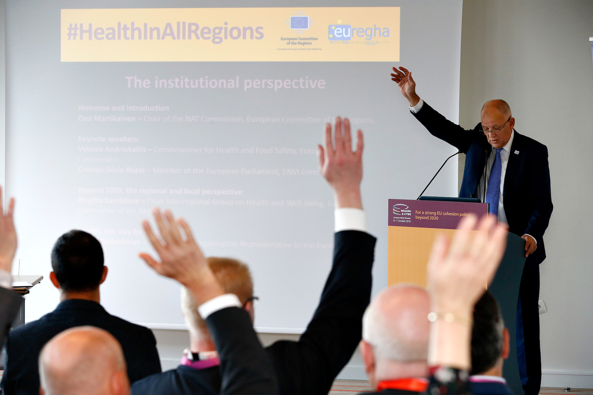 Global Challenges, Territorial Answers: the Future of Health in Europe - Event organised by EUREGHA on behalf of the Committee of the Region's Interregional Group on Health and Well-being