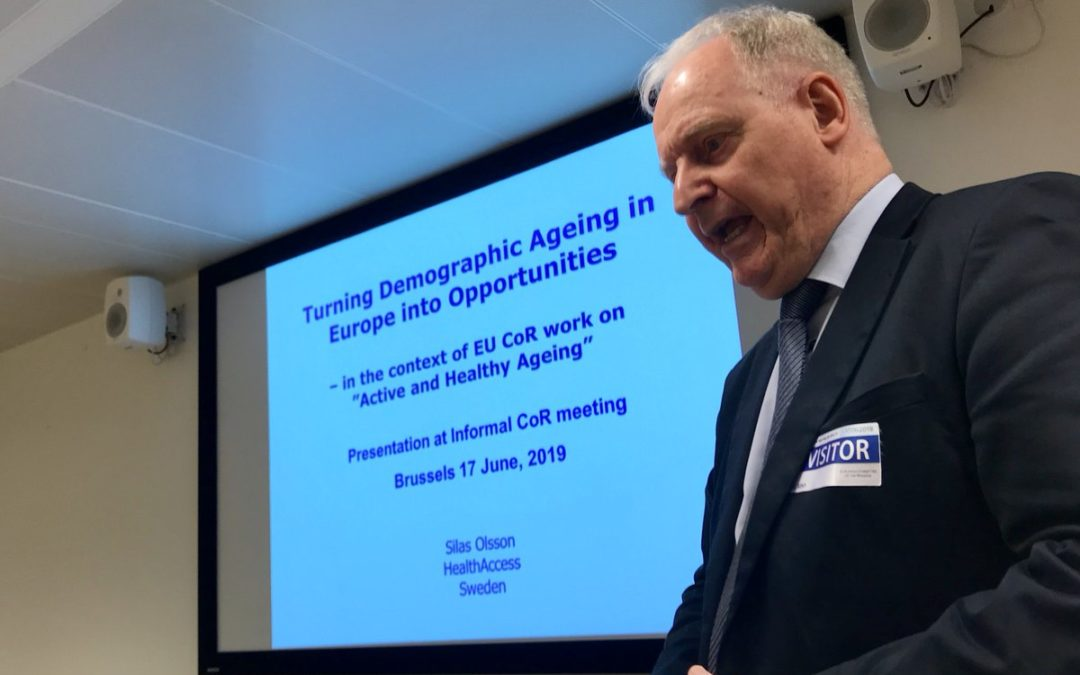 """CoR Interregional Group on Health and Wellbeing: """"Active and Healthy Ageing"""""""